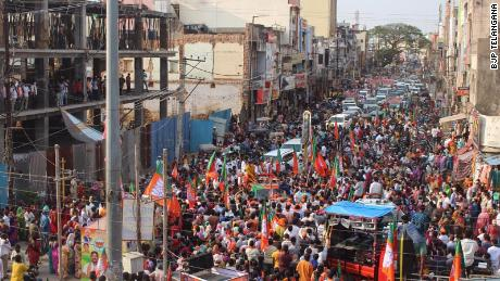 Members of Prime Minister Narendra Modi's Bharatiya Janata Party continue to hold rallies despite a devastating second wave of coronavirus gripping the country.