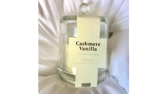 Threshold Cloche Glass Jar Cashmere Vanilla Candle