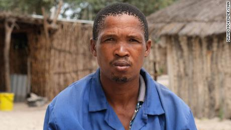 """Paulus Mukoso is the leader of a group of !Kung people who live near the exploratory drilling -- nobody from ReconAfrica had come to talk to them. """"I am worried that if they come here, they will say only the good things that they are bringing here, not the bad things."""""""