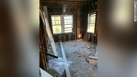 Following the fire, Chloe Melas' home had to be completely gutted due to the damage.