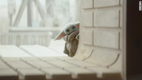 """Grogu, or the Child, from the TV series """"The Mandalorian,"""" has been dubbed """"Baby Yoda"""" by fans and the media."""