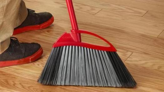 O-Cedar Rubber Broom & Dustpan
