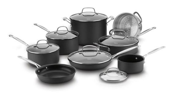 Cuisinart Chef's Classic 14-Piece Non-Stick Hard Anodized Cookware Set