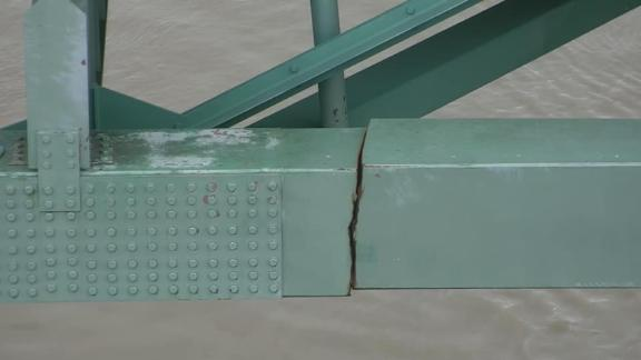 The Tennessee Department of Transportation in May released photos of the crack that shut down the bridge.