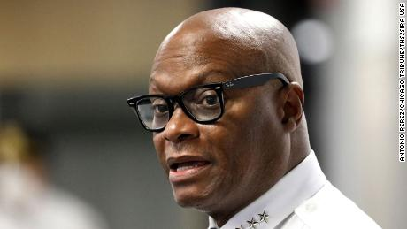 Chicago Police Superintendent David Brown speaks to the media on July 6, 2020.
