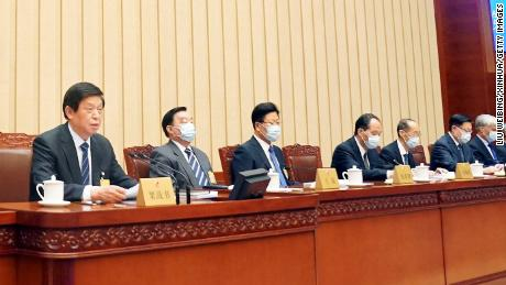 The closing meeting of the 13th National People's Congress Standing Committee in Beijing, China, on October 17, 2020.