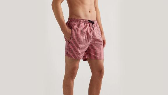 Solid & Striped The Classic Midlength Striped Swim Shorts