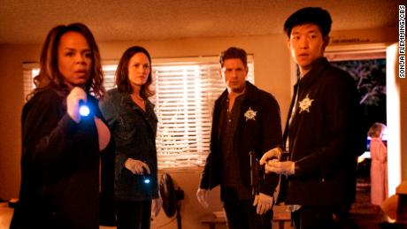 Paula Newsom, Jorja Fox, Matt Lauria and Jay Lee in 'CSI: Vegas'