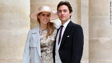 Princess Beatrice and her then-fiancé,  Edoardo Mapelli Mozzi, attend a wedding France in October 2019.