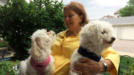 Retired schoolteacher Carla Gildewell is enjoying spending time with her dogs, Annie and Sebastian.