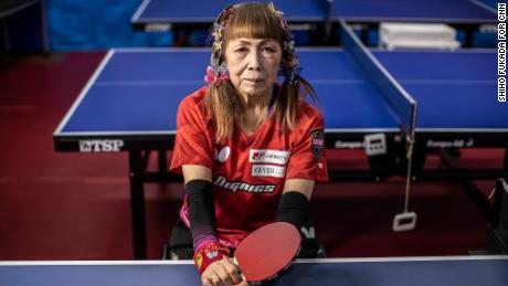 """'I'm not going to die a boring death, but I'm going to make a big hit,' he says """"The Lady of the Butterflies""""  of the Paralympic table tennis"""
