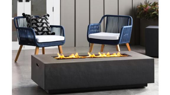Orren Ellis Belle Stone Propane Outdoor Fire Pit Table