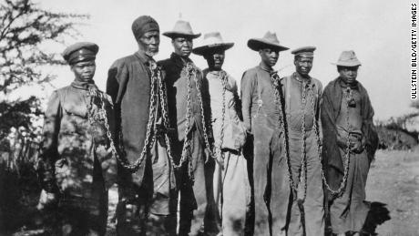 Between 1904 and 1908, German troops killed 80,000 people from HERO and NAMA in what is now Namibia in response to the anti-colonial uprising.