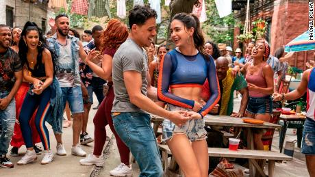 Anthony Ramos and Melissa Barrera in the musical 'In the Heights.'