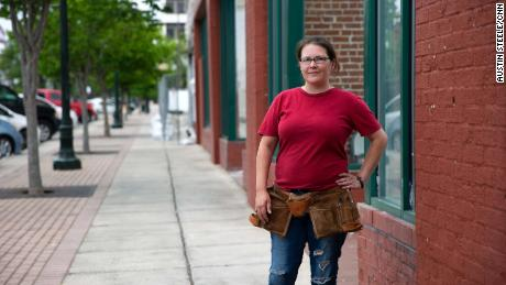 Brandin Parker, 37, stands in downtown Dalton on Thursday.