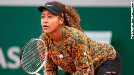 Naomi Osaka prepares for the French Open during a game against Australian Ashleigh Barty.