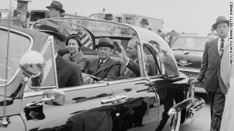 Eisenhower was the first serving President who Elizabeth met during her reign; he was also her host during her first state visit to the US in 1957.