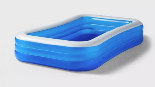 Sun Squad 10-Foot-by-22-Inch Deluxe Rectangular Inflatable Above-Ground Pool