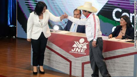 The candidates argued among themselves in the city of Arequipa on May 30.