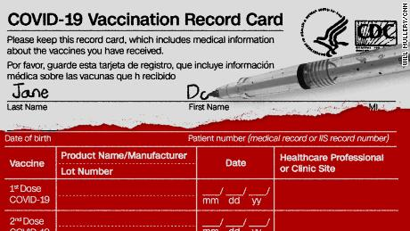 The CDC's Covid-19 vaccination card, annotated