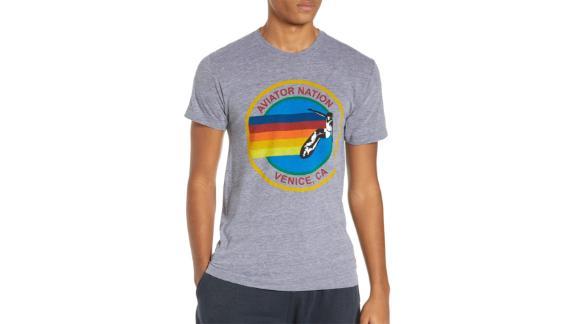 Aviator Nation Rainbow Logo T-Shirt