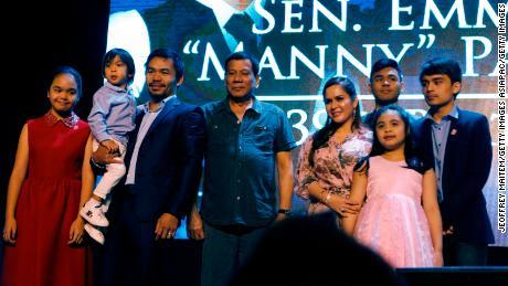 Philippine President Rodrigo Duterte sees boxer Manny Pacquiao as possible successor