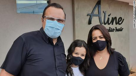 Jose Angelo Marques and his family in Serrana on February 25.