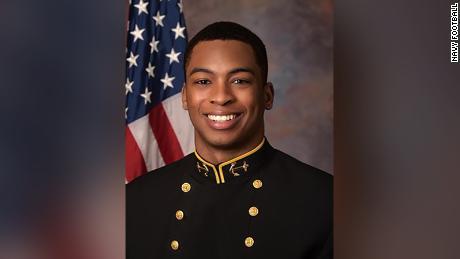 Cameron Kinley was captain of the US Naval Academy football team last year.