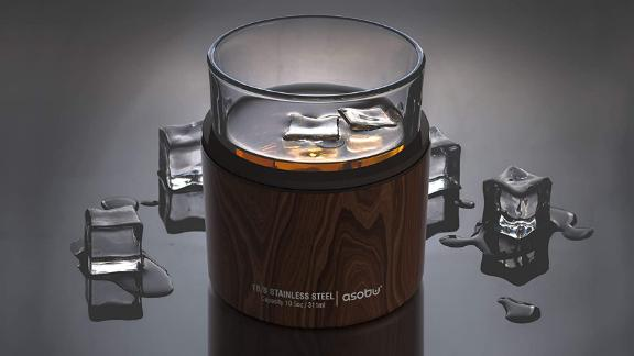 Asobu Insulated Whiskey Glass and Stainless Steel Sleeve