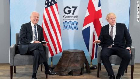 US President Joe Biden met with British Prime Minister Boris Johnson ahead of the G-7 summit in Cornwall on Thursday.