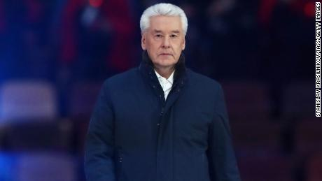 Moscow Mayor Sergei Sobyanin at a concert at Moscow's Luzhniki Stadium in March.