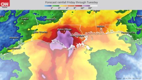 We could see more torrential rain across the Gulf Coast this weekend.