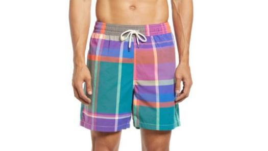 Polo Ralph Lauren Traveler Plaid Swim Trunks