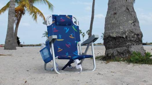 Rio Beach Kids' 5-Position Lay-Flat Backpack Folding Beach Chair
