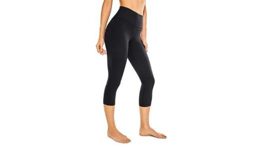 CRZ Yoga Women's High-Waist Crop Capri Leggings