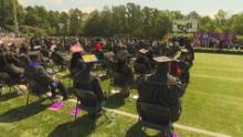 The outdoor ceremony was hot but joyful.