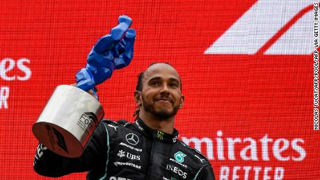 Hamilton had to settle for second place at the French Grand Prix.