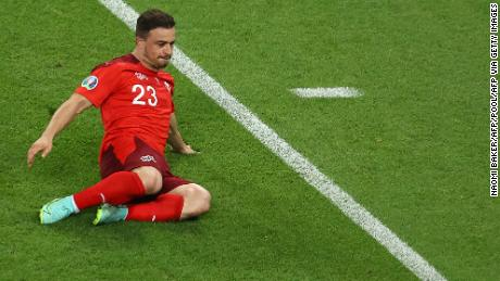 Xherdan Shaqiri scored twice against Turkey.