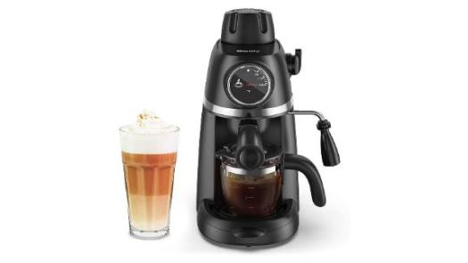 Sboly Steam Espresso Machine with Milk Frother, 1-4 Cup