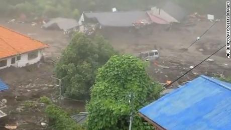At least 20 people are missing after the mudslide hit the coastal city.