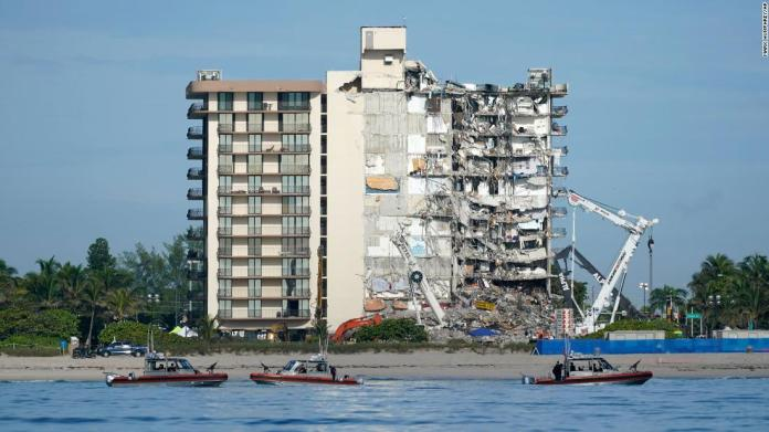 Officials say the demolition could happen as early as tomorrow ahead of Tropical Storm Elsa