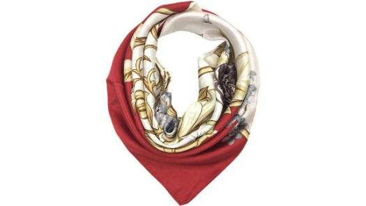 Your Smile Large Square Satin Scarf