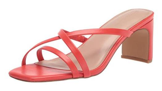 The Drop Amelie Strappy Square Toe Heeled Sandal