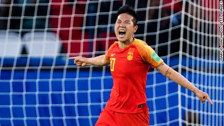 Chinese soccer star Li Ying last month became China's first female athelte to come out publicly as gay.
