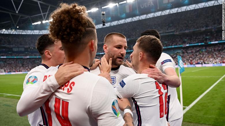 Shaw's goal sent Wembley wild.