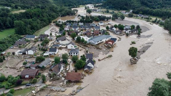 The German village of Insol in Rhineland-Palatinate is inundated after massive rainfall.