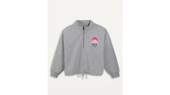 Old Navy Loose Team USA Quarter-Zip Women's Sweatshirt