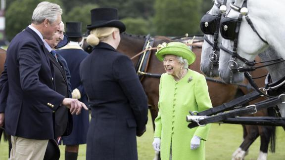 The Queen at the Royal Windsor Cup