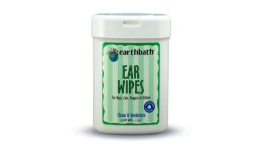Earthbath Ear Wipes for Pets, Pack of 25