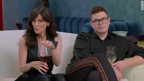 """Julia Haart and Robert Brotherton in an episode of """"My Unorthodox Life."""""""